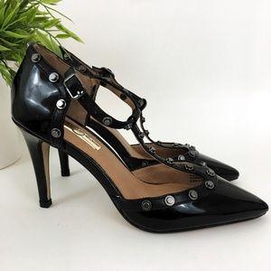 Halogen Black Hardware Strap Heels
